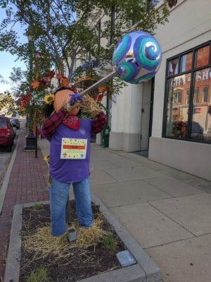 A glass-blowing scarecrow in Lancaster was one of the many scarecrows on display at last year's Trail of Scarecrows in Fairfield County.