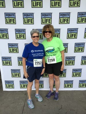 Ellen Maley, 65, right, of Merion Village, with Jean Robbins, 67, of Bexley