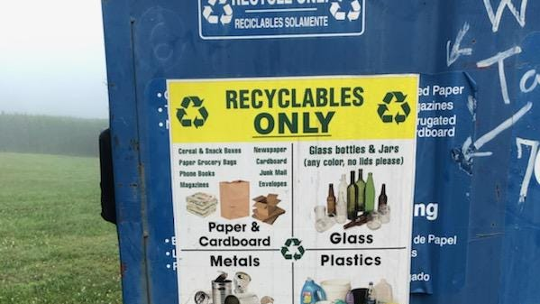 """The four-hour recycling event drew 259 people. Thatnumber was down 130 from last year, but the number of """"donations"""" was way up."""