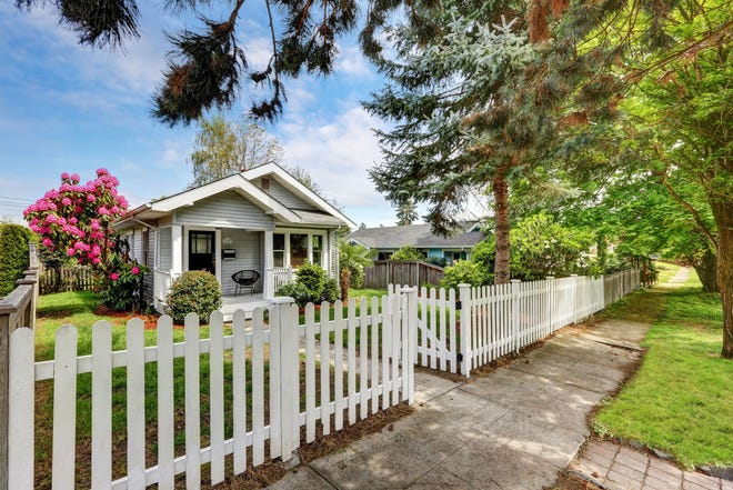 A picket fence is more economical that some other fences because it uses less material than taller fences.