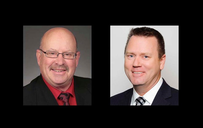 Canidates for the Iowa Senate District 42: Rich Taylor and Jeffrey Reichman.