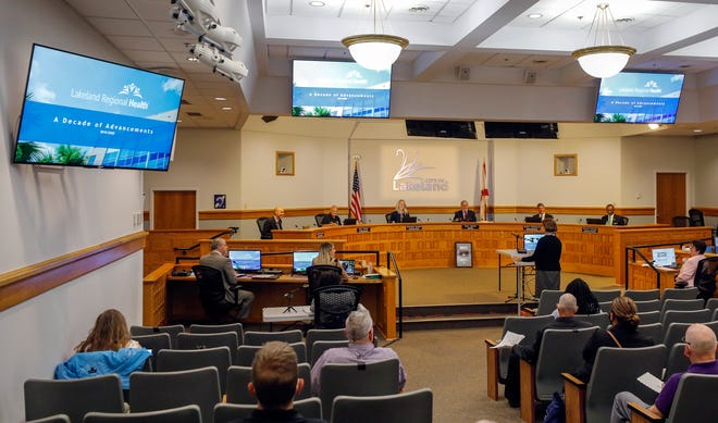 Elaine Thompson, CEO Lakeland Regional Health , speaks at the city commission meeting at city hall in Lakeland, Florida  October 19, 2020.    Lakeland Regional Health CEO Elaine Thompson reflected on 10 years of providing community health care in Lakeland