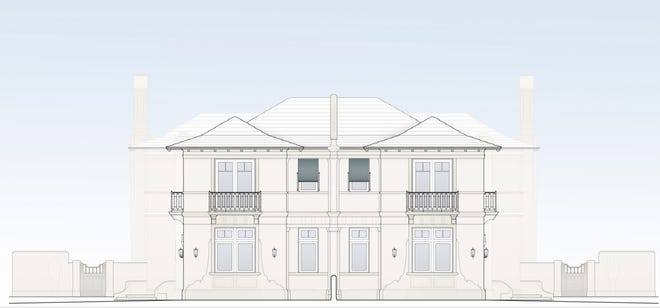 The Palm Beach Architectural Commission has approved the design for a two-townhouse development planned for a vacant lot at 220 Brazilian Ave., which just sold for a recorded $6.6 million.