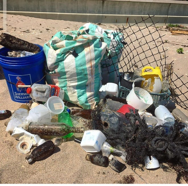 Trash collected by Friends of Palm Beach during a recent cleanup.