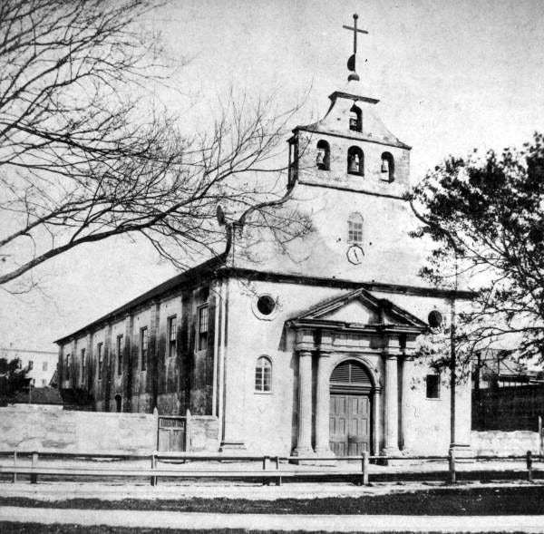 The St. Augustine Cathedral on March 13, 1871.