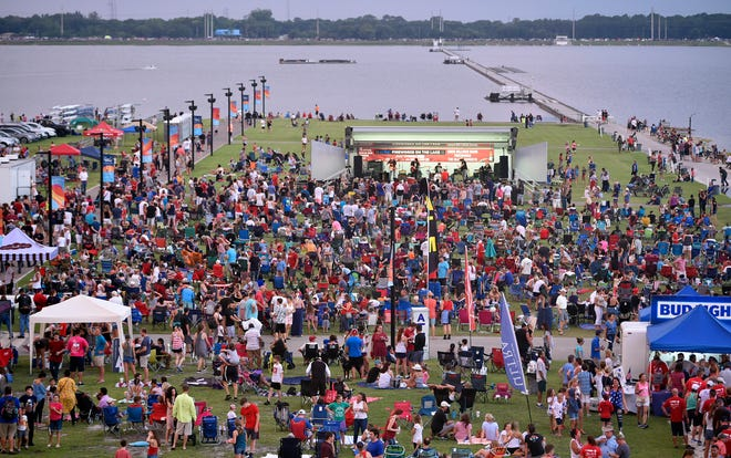 Nathan Benderson Park's new monthly concert series, NBP Fiesta! Fridays, launches this week on Regatta Island, pictured here July 3, 2019, during Fireworks on the Lake.