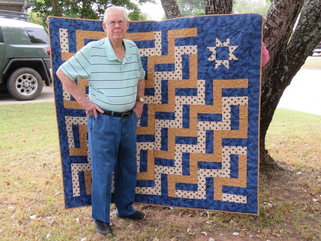 Shawnee veteran Noah Hines, 96, received a Quilt of Valor over the weekend.