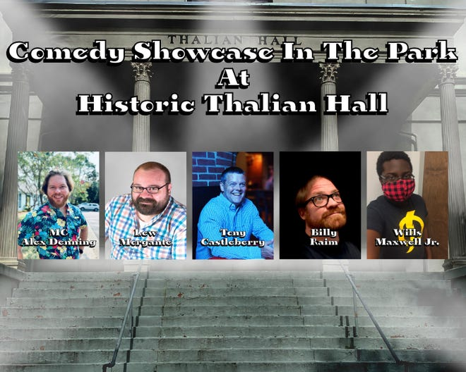 Comedy showcase in the park at Thalian Hall.