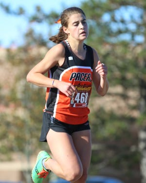 Senior Brynn McGrail has overcome an injury and a health ailment to become a top performer and a leader for the Delaware Hayes girls cross country team. Her 12th-place finish led the Pacers in the OCC-Capital meet Oct. 17 at Westerville North.