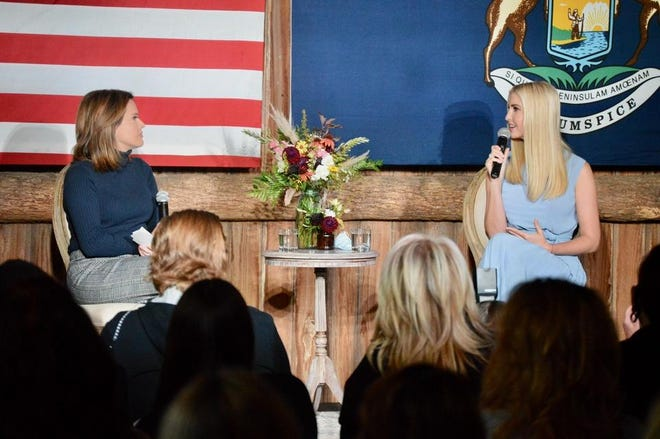Ivanka Trump, senior advisor to President Donald Trump, made an impromptu stop at Robinette's Apple Haus Monday, Oct. 19, during her visit to Grand Rapids, Mich.