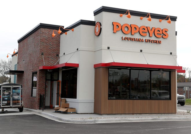 Popeyes Louisiana Kitchen is scheduled to open on Oct. 23, 2020 in Green Bay, Wis.