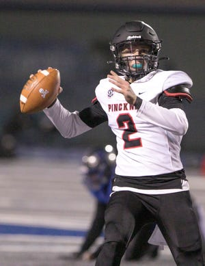 Quarterback Luke Lovell is one of eight Pinckney football seniors named academic all-state.