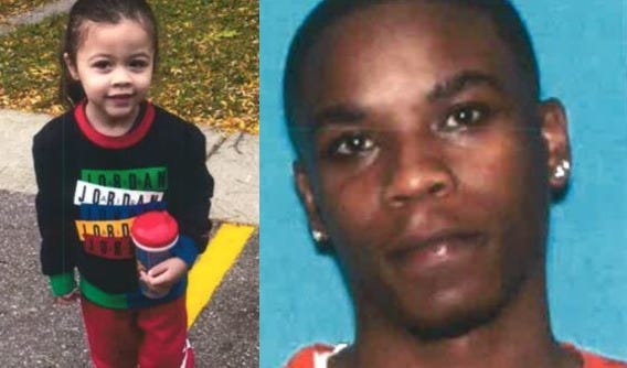 Phoenix Washington Jr., left, is believed to have been abducted by his father, Phoenix Washington, from Lansing Township.