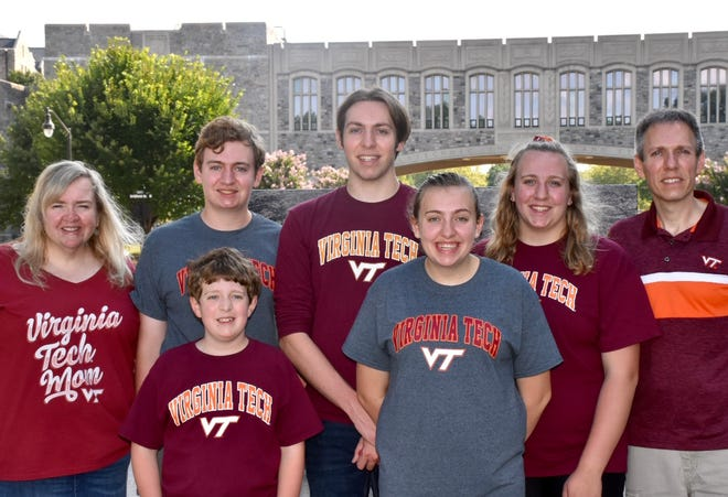 Jackie Fitch and her family took her oldest child to college at Virginia Tech in July during the pandemic.