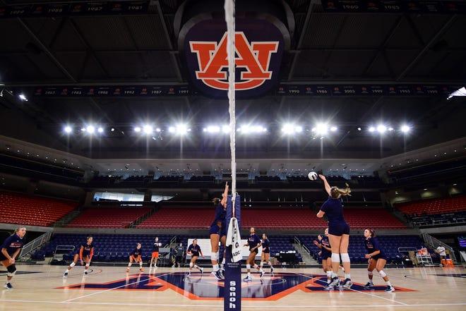 Auburn volleyball practice at Auburn Arena on Aug. 12, 2020.