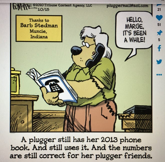 When Barb Stedman read the comics section of The Star Press on Oct. 15, she got an extra laugh.