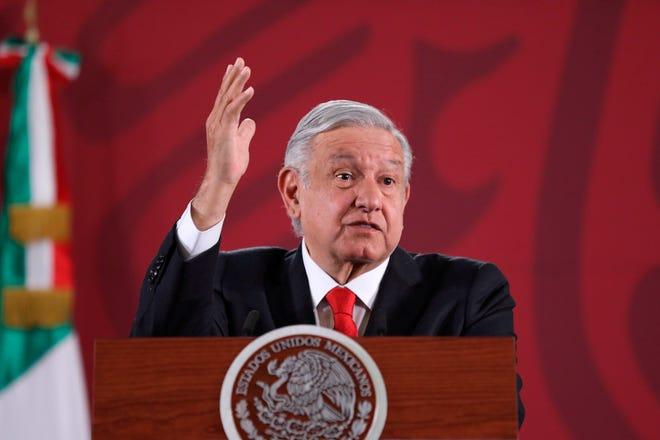 El presidente de México, Andrés Manuel López Obrador, habla durante una conferencia de prensa en Ciudad de México (México).