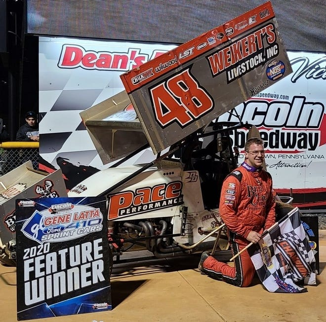 Danny Dietrich, seen here in a file photo, won the 2020 season-opening Ice Breaker sprint race in February at Lincoln Speedway.