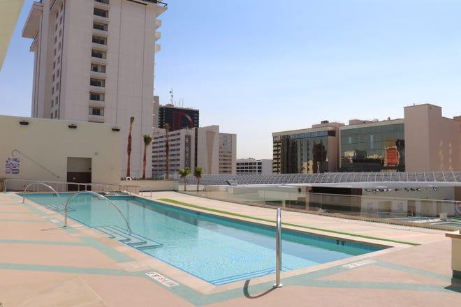 Stadium Swim – the giant pool at Circa Resort & Casino, opening in Downtown Las Vegas this month.