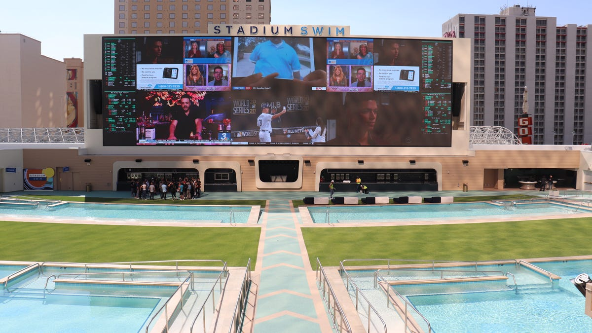 Photos: First look at the giant pool coming to downtown Las Vegas