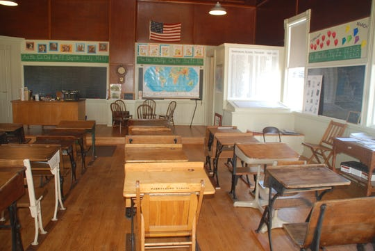 Those who attended one-room schools will recognize the desks, chalkboards and other memorabilia housed in the Harrisburg schoolhouse. Youngsters who have no idea what school was like in an earlier era, get a chance to visit this school when it hosts schoolchildren from nearby districts during open events each year. The coronavirus outbreak put a stop to those visits for this year.