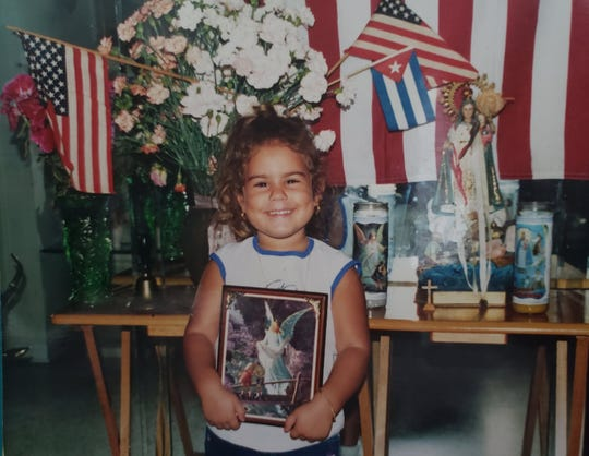Daniela Ferrera on her second day in the United States. Her family fled Cuba after her father was jailed by the Castro government.
