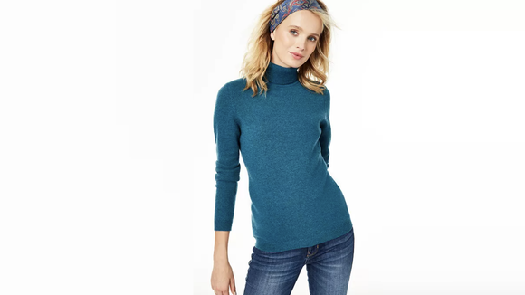 Turtleneck lovers will adore this colorful option.