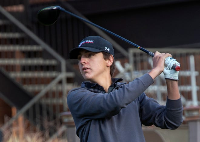 Joey Mucci and his Sewickley Academy teammates finished second Monday at the PIAA Class 2A boys team golf championship.