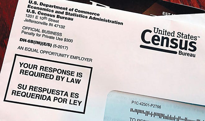 Census Bureau envelope.