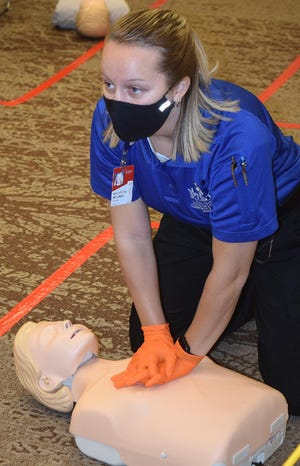 Mackenzie Brigman is spending a gap year between college and medical school at TSTC. She is enrolled in the EMS program at the Brownwood campus.