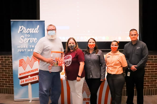 Brownwood High School Computer Science and Robotics teacher Edward Yantis was recognized in a presentation made by Whataburger recently.