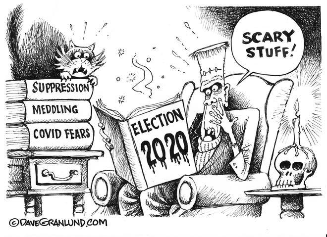 Dave Granlund cartoon for Halloween.