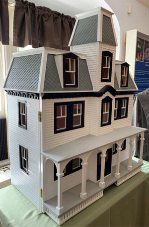 The dollhouse offered at auction.