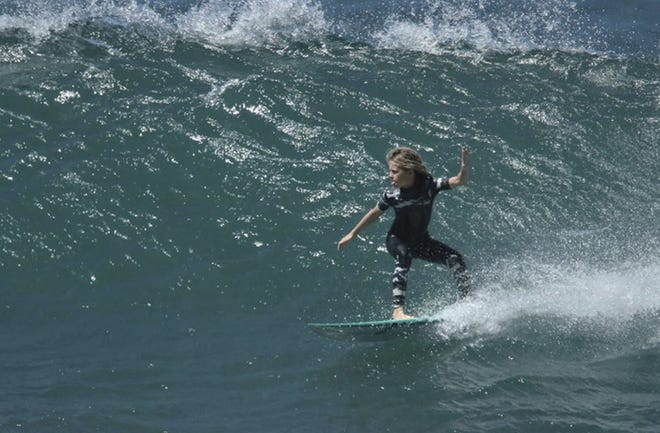 Having just learned to surf two years ago, 11-year-old Lanea Mons is already taking home tropies and surfing big waves in Hawaii.