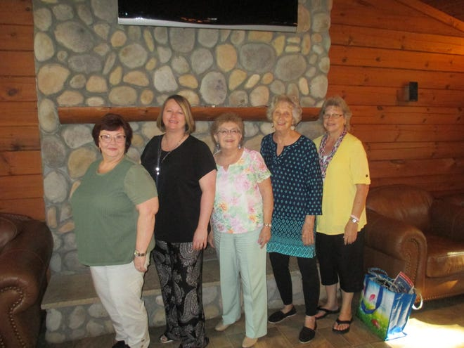 Preceptor Phi chapter of Beta Sigma Phi sorority recently elected officers for their upcoming year. Pictured left to right are Annette Ratliff, correspondence secretary; Nancy Weimann, recording secretary; Ruthie Stroud, treasurer; Barbara Shoestock, vice president; and Sharon Herring, president. [CONTRIBUTED PHOTO]