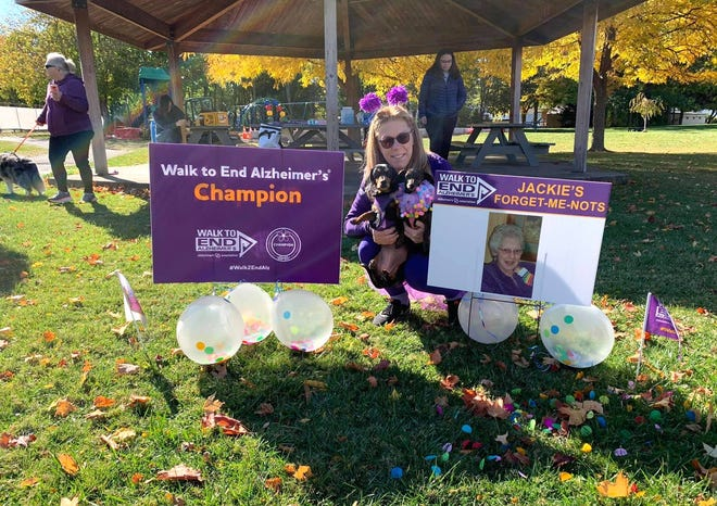 Gail Valentino, of Dansville, participated in the recent Walk to End Alzheimer's.