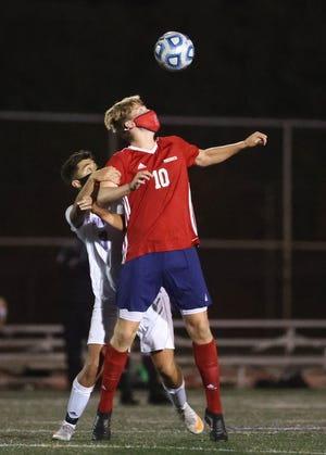 Teagan Brady (10) scored the only goal of the game Monday night as Portsmouth defeated Mount Hope 1-0.