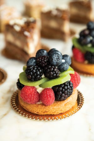 """Fruit tarts are among the sweets featured in """"Sant Ambroeus: The Coffee Bar Cookbook."""""""