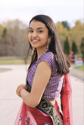 To become a Gold Award Girl Scout, Mallika Saksena spent 113 hours on her project, Dancers Without Borders, where she organized dance workshops here and in India.