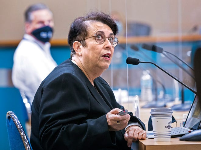 Palm Beach County Health Director Dr. Alina Alonso discusses the latest COVID-19 information with commissioners during the Palm Beach County Commission meeting in West Palm Beach Tuesday, Oct. 20, 2020.