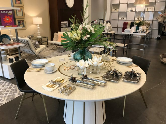 Bungalow Palm Beach, which opened last week at Downtown Palm Beach Gardens, carries custom furniture, home décor and upscale fashion brands as well as jewelry, lotions and fragrances.