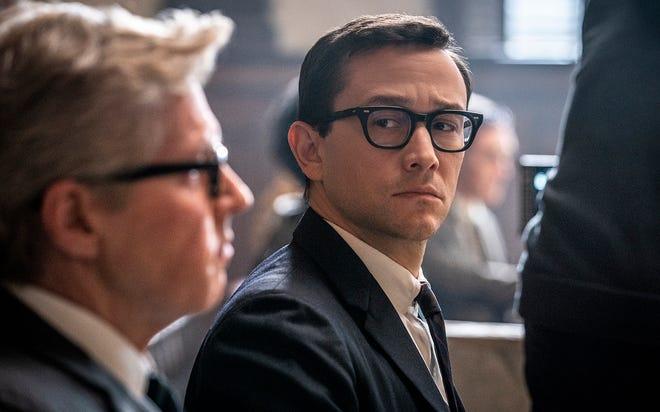 """The Trial of the Chicago Seven"" From left: J.C. MacKenzie as Thomas Foran and Joseph Gordon-Levitt as Richard Schultz. [Netflix]"