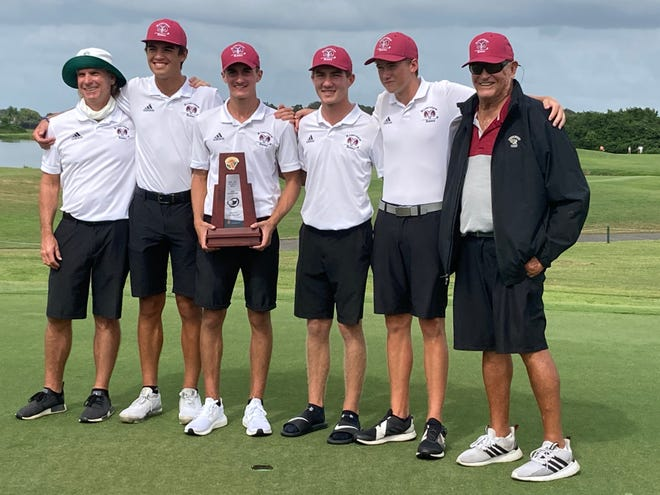 The Riverview High boys golf team won the Class 3A-Region 3 title Tuesday shooting 302 at Misty Creek Country Club in Sarasota.
