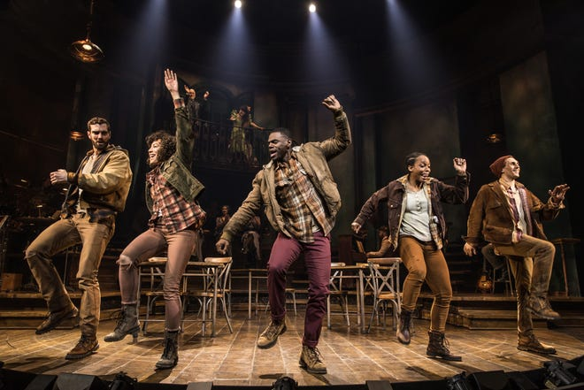 "A scene from the Broadway production of the Tony-winning ""Hadestown."" The national tour at Straz Center has been postponed because of the coronavirus."