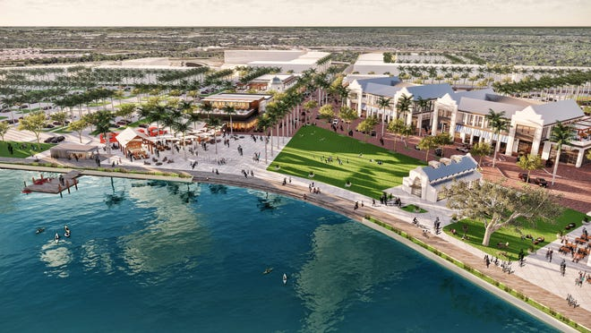 A major selling point for the master-planned community Wellen Park includes its vision, such as the Downtown Wellen Town Center.