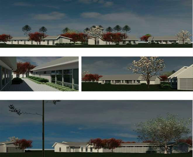 The above drawings show what the Colonial Capital Humane Society shelter will look like when it is finished sometime in 2021. It will include separate facilities for cats and dogs as well as adminsitrative offices, visiting rooms, and a surgical room. [Source: Colonial Capital Humane Society]