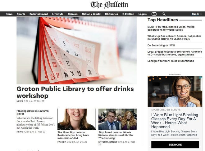 A look at the new norwichbulletin.com