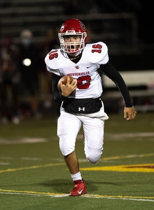 Quarterback Peter Pedrozo has led Westerville South to a Division II, Region 7 quarterfinal.