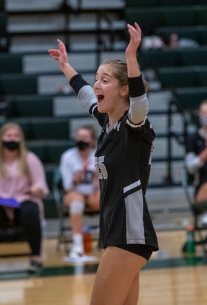 Mia Cline and her Central girls volleyball teammates had reason to celebrate after going 8-1 to win the OCC-Ohio title, the program's sixth league title and first since 2015.