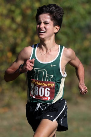 Jerome freshman Sam Ricchiuti finished second in the OCC-Cardinal boys cross country meet Oct. 17 at Pickerington Central, leading the Celtics to the championship.
